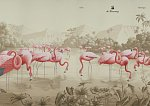 Flamingoes - nová tapeta od de Gournay
