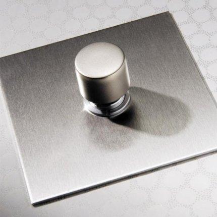 Otočné stmívače (rotary dimmers) Stainless Steel (4)