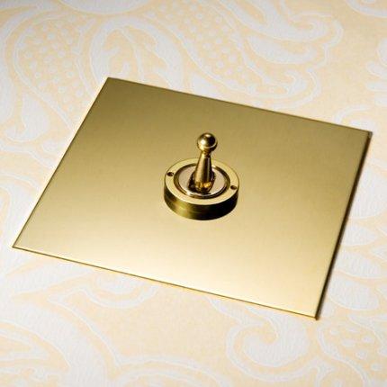 Páčky (dolly) Unlacquered Brass (4)