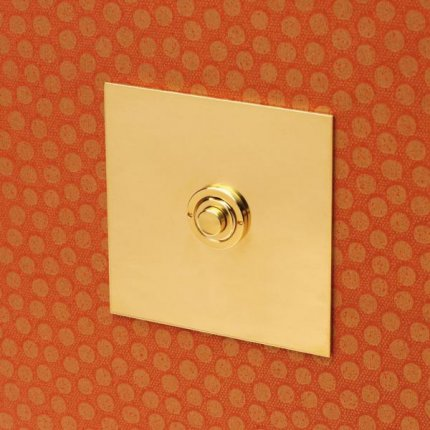Tlačítka (button) Unlacquered brass (2)