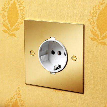 Zásuvky (sockets) Unlacquered Brass (1)