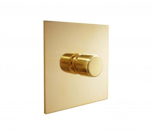 Otočné stmívače (rotary dimmers) Unlacquered Brass (2)